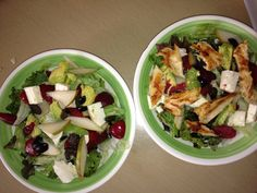 Plum, Pear & Avocado Salad (3 lettuces, olives, white cheese (panela), your choice w/chicken or w/out!) ENJOY!