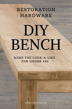 diy furniture living room table living room restoration hardware diy furniture diy restoration hardware hacks restoration hardware dining home made bench bench benches for bedroom entry with bench create bench Diy Furniture Table, Diy Dining Table, Diy Furniture Plans, Diy Furniture Projects, Diy Living Room Furniture, Fireplace Furniture, Living Room Bench, Furniture Hardware, Pallet Projects
