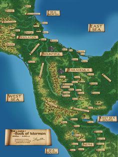 Book Of Mormon Lands | Hazbineldar: Updated Book of Mormon Map