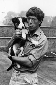 Man's Best Friend September 1971 John Noakes whistles to Shep his television pet Old Tv Shows, Kids Shows, Blue Peter Presenters, My Childhood Memories, 1970s Childhood, Kids Tv, Vintage Tv, My Youth, People Of Interest