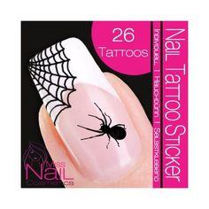 Amazon.com: Nail Tattoo Sticker Halloween - Spider / Cobwebs: Beauty Halloween Stickers, Halloween Spider, Nail Stickers, Cute Nails, Ornaments, Nail Tattoos, Black Beauty, Amazon, Pretty Nails