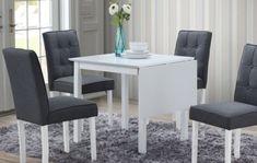 Jídelní stůl VALETTA rozkládací bílý Dining Chairs, Furniture, Home Decor, Decoration Home, Room Decor, Dining Chair, Home Furnishings, Home Interior Design, Dining Table Chairs