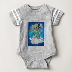 Valentine's Day Smokey Grey Cupid Cat Baby Bodysuit - Saint Valentine's Day gift idea couple love girlfriend boyfriend design