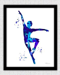 Ballet dancer print male ballet dancer print by FluidDiamondArt with <3 from JDzigner www.jdzigner.com