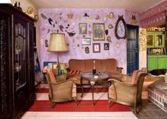 Colorful fairy tale house with Vintage furniture This house is one of those where you dream, a few years to spend, where you want, invite your grandc...