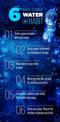 Drinking water is one of the healthiest habits you can create. Here are some tips and tricks to help you get your 8 glasses in throughout the day!