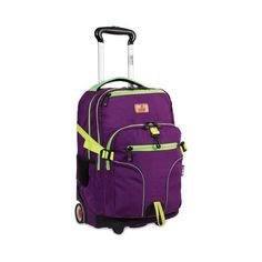 9bff2c98d6 JWorld New York Lunar Laptop Rolling Backpack - Purple Zipper