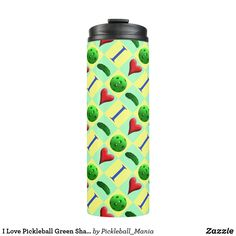 I Love Pickleball Green Shades - Thermal Tumbler