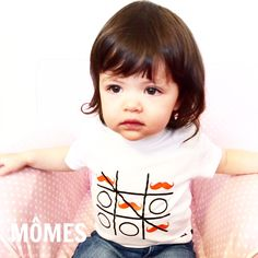 "Cutie pie petite Zoé is in our #MÔMES ""Tic-Tac-Toe"" tee today!  You can also get our popular ""Tic-Tac-Toe"" design at www.momes-store.com (link in profile)  #girlinboysclothes#tictactoe#organiccotton#fashionista#halfie#angelkid"