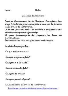 Llibre de lectures Catalan Language, Valencia, Teaching, Holguin, Books, Life, School, Reading Comprehension, Reading Comprehension