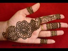 Latest Arabic Henna Designs For Hands *Simple Arabic Henna Mehndi Designs*Matroj Mehndi Designs - YouTube