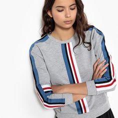 ae327941fe6 Sporty sweater, strepen opzij La Redoute Collections - Truien, vestjes,  sweaters