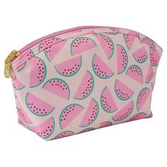 Contents Round Clutch Makeup Bag - Watermelon : Target