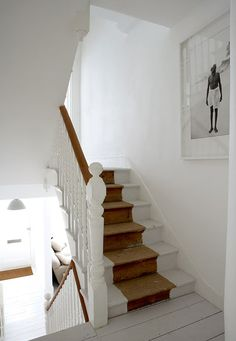 Color/Paint Inspiration - Staircase - Photographer Paul Massey's Alabaster House via The Beat That My Heart Skipped