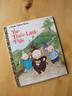 A Little Golden Book  The Three Little Pigs by TheBigBlueMarble, $3.50