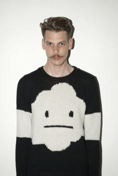 """How do I feel about this scene? I let my sweater do the talking. And my sweater says """"meh""""."""