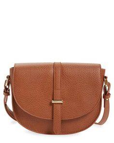 faux leather saddle crossbody bag