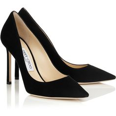 Navy Suede Pointy Toe Pumps ROMY 100 (29.415 RUB) ❤ liked on Polyvore featuring shoes, pumps, heels, suede pointy toe pumps, black heel pumps, pointy toe shoes, suede shoes and black pointy-toe pumps
