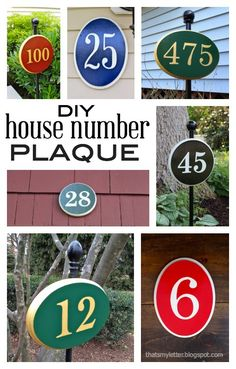"""That's My Letter: """"D"""" is for DIY House Number Plaque"""