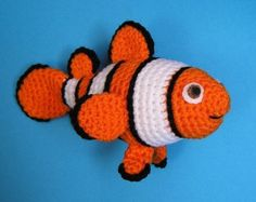 PDF Crochet Pattern CLOWN FISH
