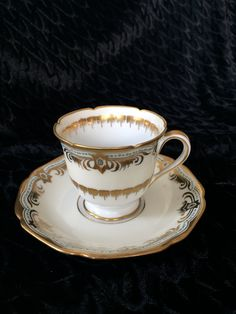 Rare, Noritake, Beaudina Demitasse cup and saucer by Nanaslittlecottage on Etsy
