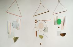 New modern abstract chimes from Ladies & Gentlemen Studio produce subtle melodies, activated by the wind.