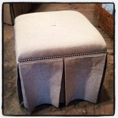 Upholstered stool. $219