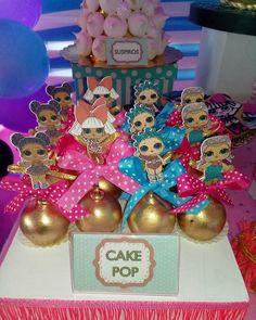 Hermosos #cakepops #lolsurprise 6th Birthday Parties, Slumber Parties, 4th Birthday, Surprise Birthday, Princess Poppy Birthday Party, Doll Birthday Cake, Aaliyah Birthday, Doll Party, Lol Dolls