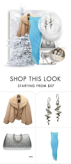 """Winter Wonderland"" by vingananee ❤ liked on Polyvore featuring Christian Dior, Gia Belloni, J. Furmani, Halston and Oscar de la Renta"