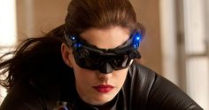 'Dark Knight Rises': Anne Hathaway is Catwoman Dark Knight Rises Catwoman, The Dark Knight Rises, Winter Soldier Mask, Anne Hathaway Catwoman, Batman, Superman, Hollywood Heroines, Stylish Sunglasses, Gorgeous Makeup