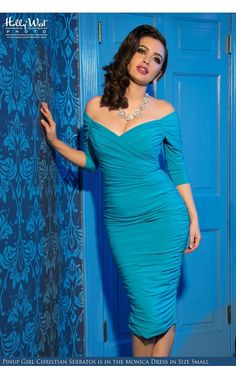 Monica Dress in Bright Blue