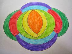 Развитие речи. Двуязычие.: Рисуем самодельные мандалы.