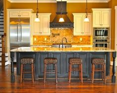 Image result for one wall kitchen layout with island