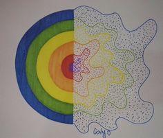 Semana 7 - Mandala 2 Symbols, Rainbow, Letters, Artwork, Diary Book, Mandalas, Rain Bow, Rainbows, Work Of Art