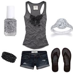 less the huge diamond ring ;) love this super cute casual outfit perfect for the backyard BBQ w/ family