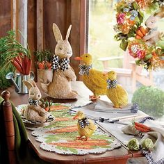 Shop MacKenzie-Childs Easter decor and more! From our eggs and chicks to bunnies and baskets, we've got all your decoration needs covered. Easter Table Settings, Easter Table Decorations, Bunny Crafts, Easter Crafts For Kids, Easter Ideas, Easter 2021, Easter Party, Easter Bunny, Easter Tree