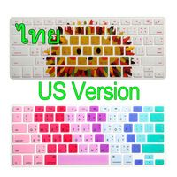 """Thai Language Silicone Keyboard Cover Skin Protector For Apple MacBook Air Pro Retina 13 15 17 US For Mac book 13.3"""" 15.4"""""""