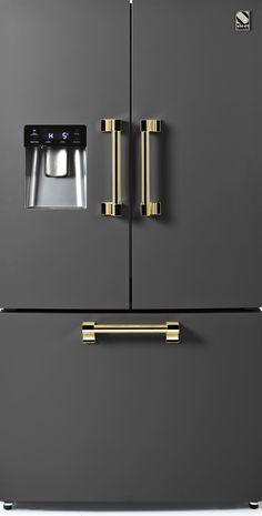 Steel - Ascot - Frittstående Kjøleskap med fransk dør - 90 cm | Range Cookers fra MyRangeCooker.no