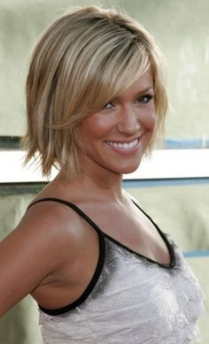 Natalie......??? Choppy Bob/I don't care about Kristin, but this is the haircut I always go off of when I get mine done! Kristin Cavallari's youthful bob is perfect for those with medium-thick straight hair.  From 15 Short Hair Cuts That Scream CHIC (Not MOM)!