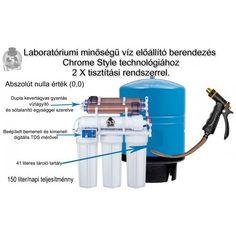 Laboratórium minőségű tiszta víz előállító berendezés.