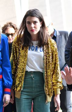 Charlotte Casiraghi Brings Royal Polish to Gucci's Front Row