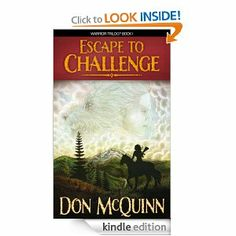 Escape To Challenge (Moondark Saga, Book 1) by: Don McQuinn - In a post-apocalyptic world, the Pacific Northwest of the United States finds skyscrapers and cities long destroyed, now replaced by kingdoms and tribes.  The Dog People, known across the Three Territories for their giant and ferocious war dogs, are balancing on the brink of civil war. It falls to Gan Moondark, son of the War Chief, to save his people and the Three Territories from a madman king.
