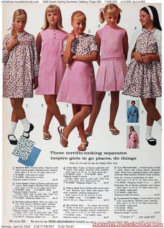 1966 Sears Spring Summer Catalog, Page 395 - Christmas Catalogs & Holiday Wishbooks Grunge Look, 90s Grunge, Grunge Style, Soft Grunge, Grunge Outfits, Style Indie, Sixties Fashion, Fashion Days, Retro Fashion
