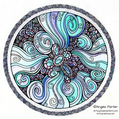 Watery Mandala November 2013 by Artwyrd on DeviantArt--Very soft and flowing, true character of  water...