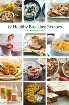 12 Healthy Breakfast Recipes // Start the day with a hearty oatmeal, made with traditional oats or an alternative grain like rye flakes, millet or amaranth. Or a healthy version of pancakes, made with whole wheat and plenty of fruit.  We've got healthy recipes for breakfast tacos or a vegetable-filled frittata, both featuring tofu. Or, if you need a healthy breakfast on the go, grab one of our favorite smoothie recipes.