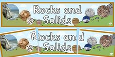A colourful display banner for your classroom for your Rocks and Soils display. Primary Resources, Teaching Resources, Display Banners, Water Cycle, Earth From Space, Investigations, Geography, Conservation, Family Guy