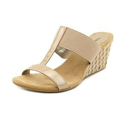 Style and Co Vern Womens Size 9.5 Tan Wedge Sandals Shoes *** Read more reviews of the product by visiting the link on the image. (This is an affiliate link and I receive a commission for the sales)