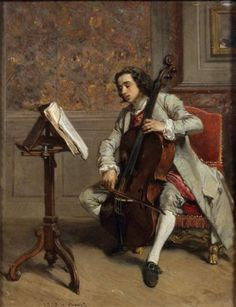 Victor Joseph Chavet (1822-1906) - The cello player