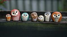 Sprout the Clay Owl Harry Potter Inspired Owlery by calicoowls