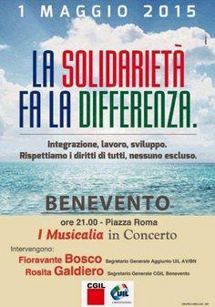 """PALCOSCENICO IN CAMPANIA.it: MUSICA - Concerto del 1° maggio a Benevento, con """"..."""